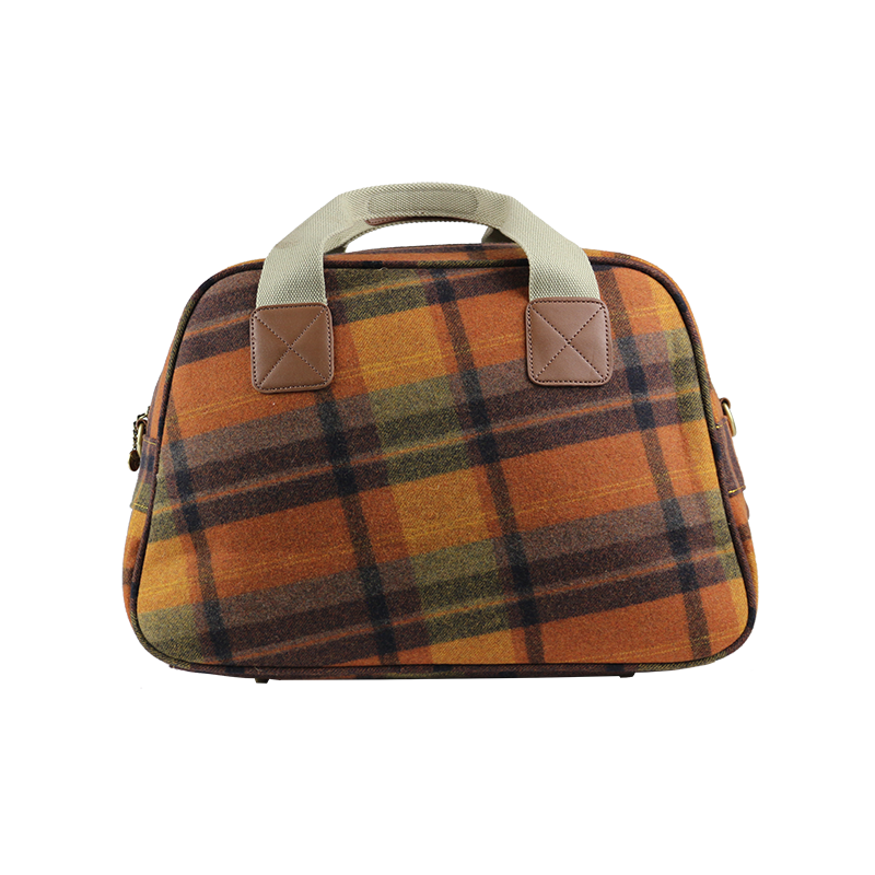 Tweed Hand Luggage Orange