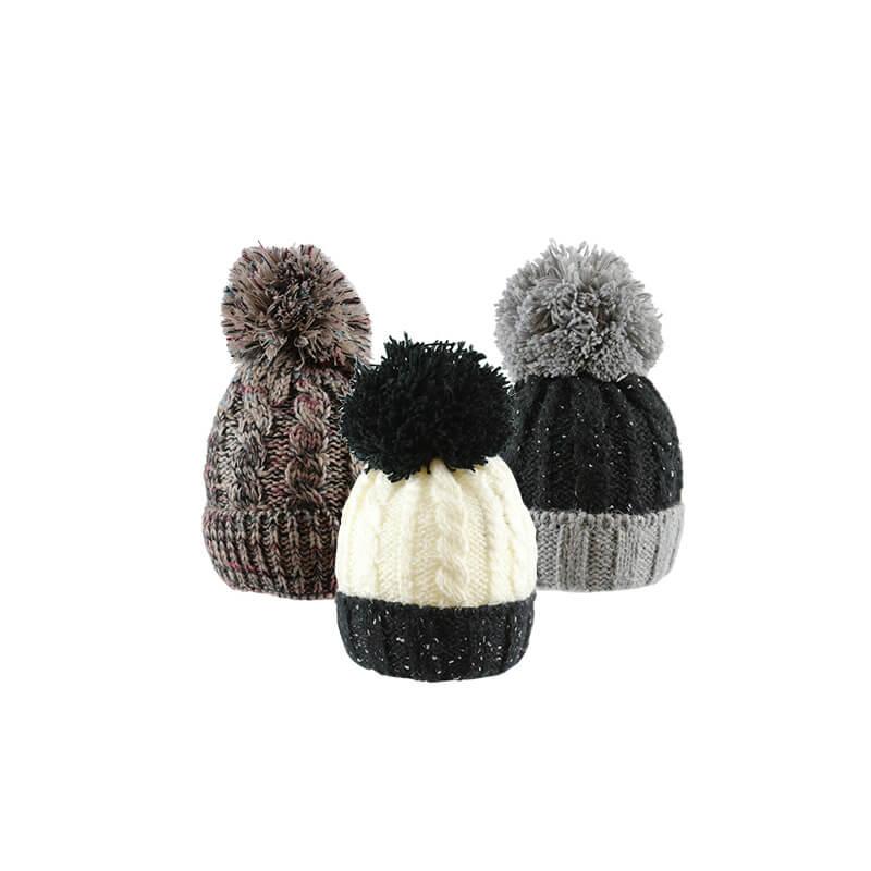 03fee8994 Large Pom Pom Hat